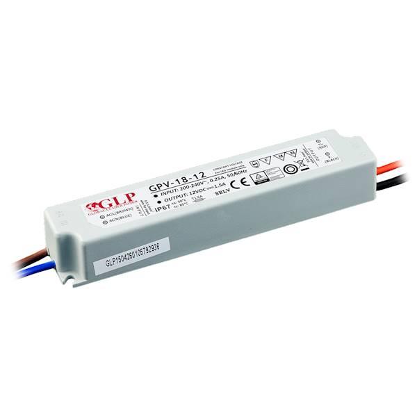ZASILACZ LED GPV-18-12 12V/1.5A GLP GPV IP67
