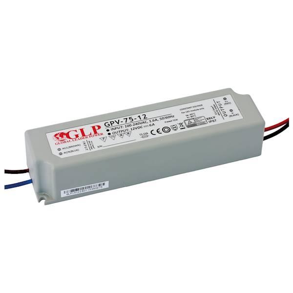 ZASILACZ LED GPV-75-12 12V/6A GLP GPV IP67