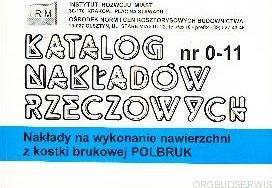 KNR 0-11 IGM Nakłady na wykonanie nawierzchni z kostki brukowej -Polbruk