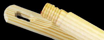 KIJ 120cm drewniany gwint toczony  w drewnie