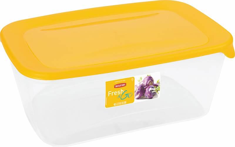 POJEMNIK do żywności 3L prostok.FRESH&GO 00556