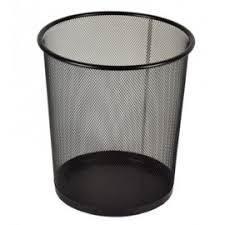 KOSZ BIUROWY 20L na śmieci METALOWY SIATKOWY