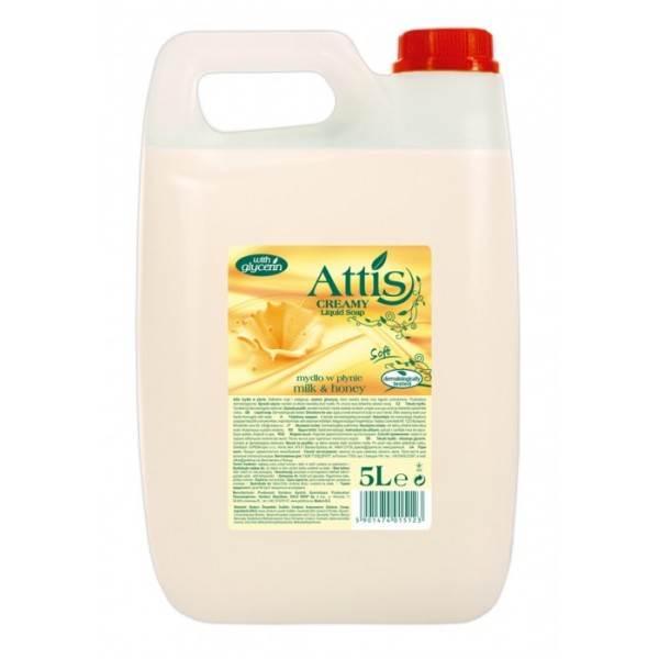 PROMO!!! ATTIS mydło 5L MLEKO MIÓD białe gęste