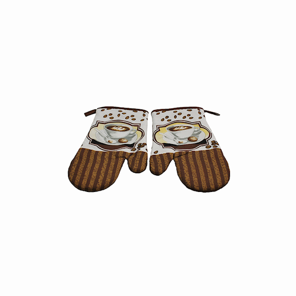 RĘKAWICE kuchenne op.2szt CAPPUCCINO * COFFEE