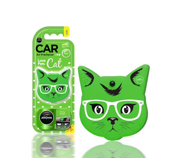 Zapach CAR CAT FANCY GREEN