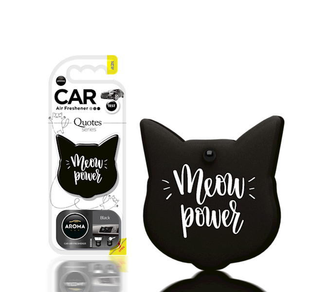 Zapach CAR QUOTES CAT BLACK
