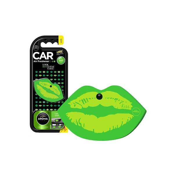 Zapach CAR LIPS FANCY GREEN POLIMER