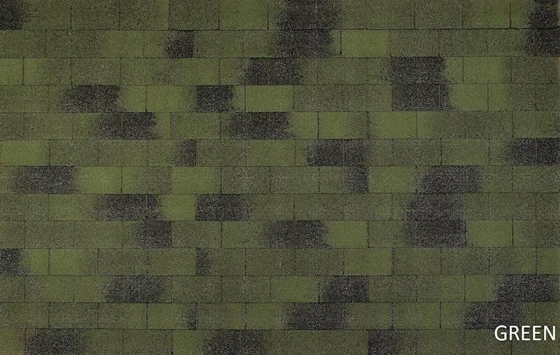 GONT BITUMICZNY TEGOLA ECO ROOF RECTANGULAR GREEN gr.3,0mm (3,05m2/op.)