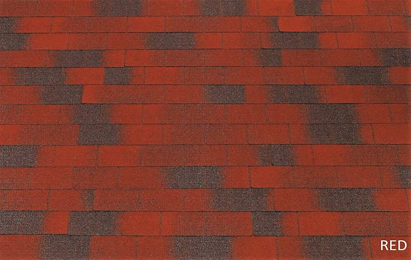 GONT BITUMICZNY TEGOLA ECO ROOF RECTANGULAR RED gr.3,0mm (3,05m2/op.)