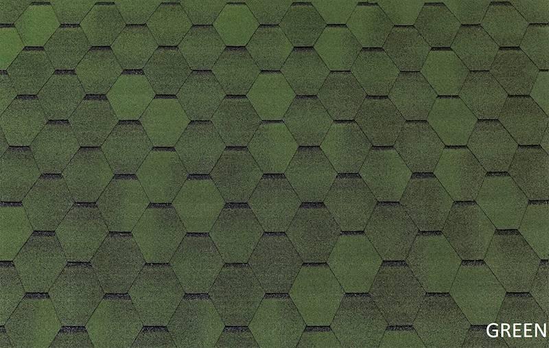 GONT BITUMICZNY TEGOLA ECO ROOF HEXAGONAL GREEN gr.3,0mm (3,00m2/op.)