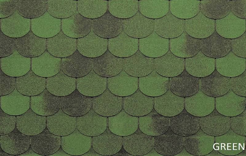 GONT BITUMICZNY TEGOLA ECO ROOF TRADITIONAL GREEN gr.3,1mm (3,05m2/op.)