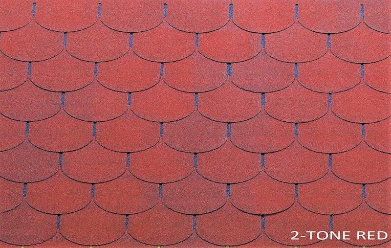 GONT BITUMICZNY TEGOLA PREMIUM TRADITIONAL 2-TONE RED gr.3,1mm (3,05m2/op.)