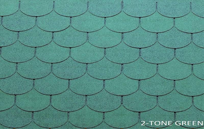 GONT BITUMICZNY TEGOLA PREMIUM TRADITIONAL 2-TONE GREEN gr.3,1mm (3,05m2/op.)