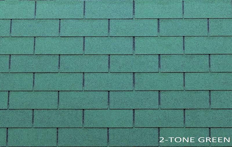 GONT BITUMICZNY TEGOLA PREMIUM RECTANGULAR 2-TONE GREEN gr.3,1mm (3,05m2/op.)