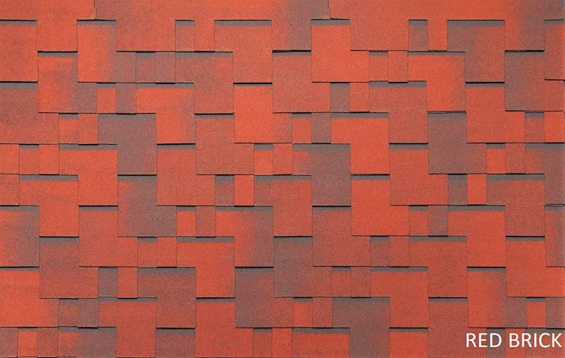 GONT BITUMICZNY TEGOLA EU PS PREMIUM GOTHIK RED BRICK gr.3,0mm (3,45m2/op.)