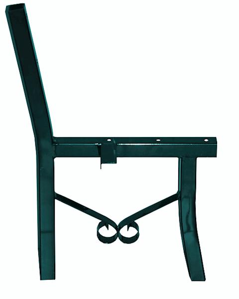 Stelaż ławki parkowej z profilu