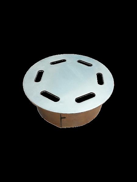 Wywietrznik studni kablowych ø 165mm x 80mm bez logo - ocynkowany