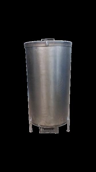 Piec do palenia trocin - trociniak średni z blachy ≠ 1.5mm ( Ø 470mm x 810mm )