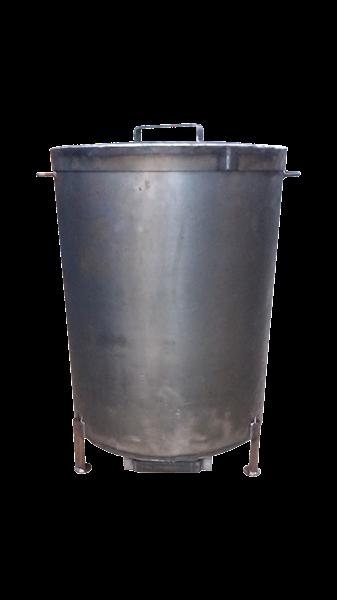 Piec do palenia trocin - trociniak mały z blachy ≠ 1.5mm ( Ø 470mm x 600mm )
