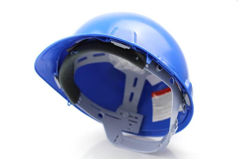 Kask ochronny niebieski