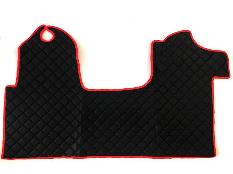 Dywanik pikowany Master 3os czarno-czerwony