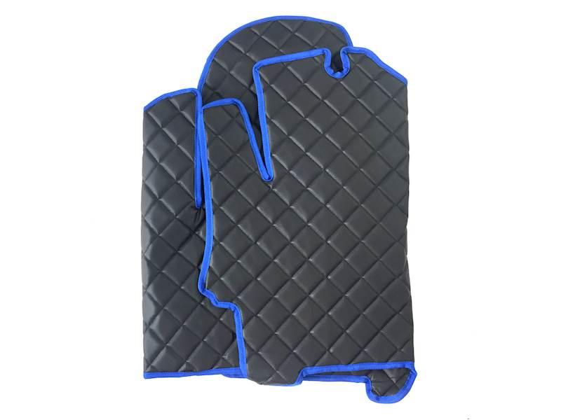 Dywanik pikowany Iveco 3os czarno-niebieski