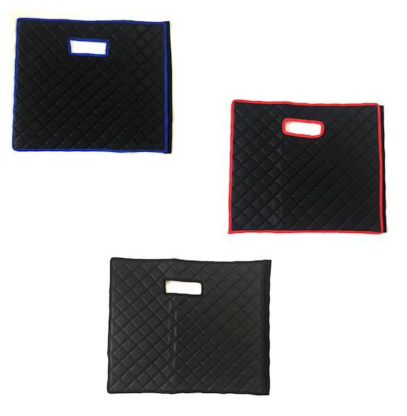 Dywanik pikowany Master 2os czarno-niebieski
