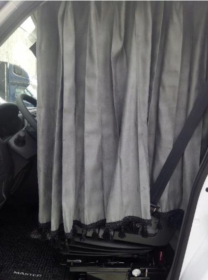 Zasłony plisowane bus zestaw szare