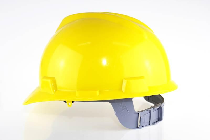 Kask ochronny żółty