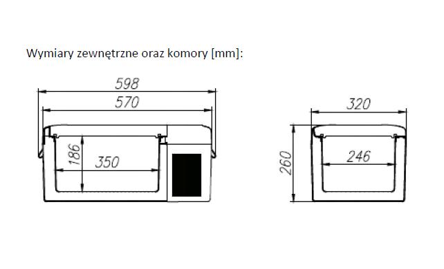 Lodówka sprężarkowa Vigo V15