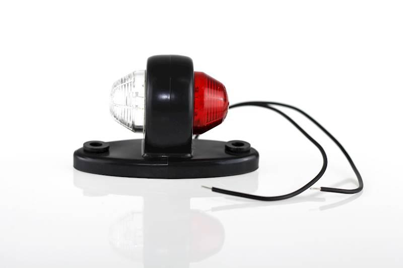 Lampa obrysowa LD465 biało-czerwona