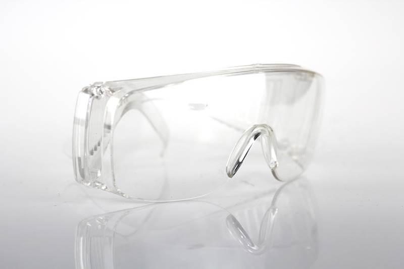Okulary białe ochronne