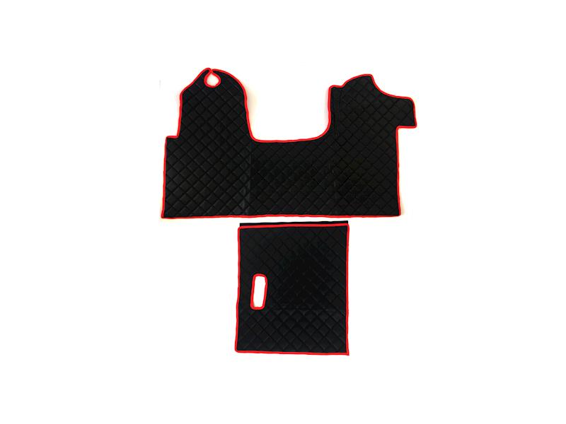 Dywanik pikowany Master 2os czarno-czerwony