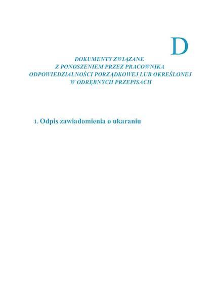 Akta osobowe wkład D