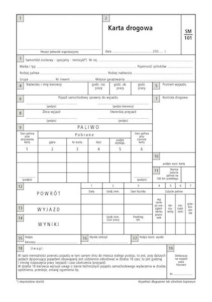 Karta drogowa A-5/80k./