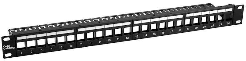 Patch Panel krosowy 24 porty modularny 1U 19""