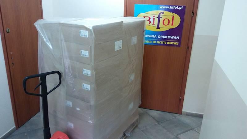 Kaptur foliowy 1,3+2f0,50x2,3 m. /60my/ na paletę 100x120cm /przemysłowa/