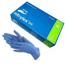 Rękawice  nitrylowe niebieskie S /100szt/