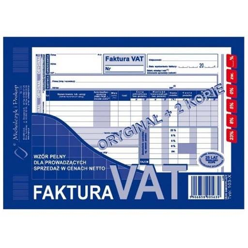 FAKTURA VAT A5 ORYGINAŁ+2 KOPIE 103-XE