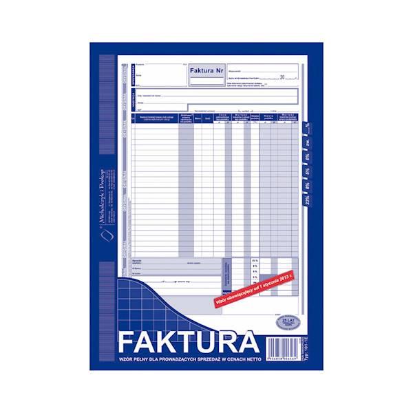 FAKTURA VAT A4 ORYGINAŁ-KOPIA 101-1E