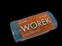 WORKI NA ŚMIECI HDPE 35L/50 NIEBIESKIE