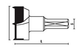 Wiertło puszkowe D-25x57