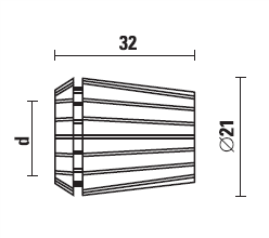 Zacisk/Collet ER20 D-10