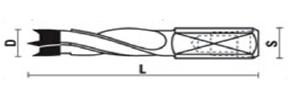 Wiertło kołk./Dowel drill D-05x105 L 4F, A110L-050