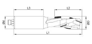 Frez diamentowy D-16x25/16 prawy