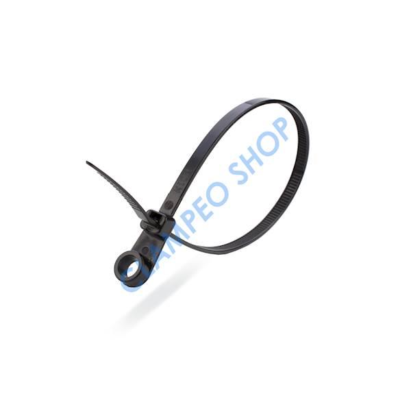Opaska kab. z otworem 7,6x380mm UV Black 100 szt