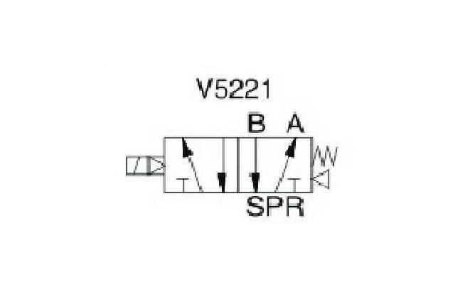 """EMC V5221-06 ELEKTROZAWÓR PIĘCIODROGOWY 5/2 1/8"""""""