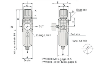 UP EW3000-02 FILTR REGULATOR FR 1/4""