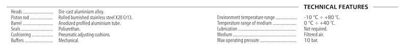 VESTA NWT 040.0050 SIŁOWNIK VDMA - ISO 15552