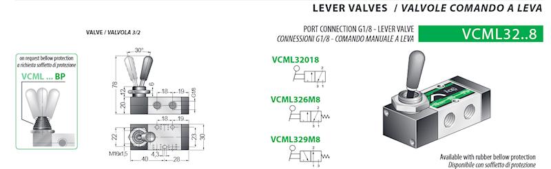 VESTA VCML32018 ZAWÓR 1/8 MANUAL-LEVER 3W